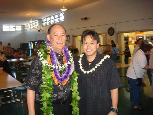 Sen. Brian Taniguchi and Rep. Jon Riki Karamatsu