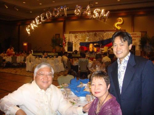 Sen. Clarence and Mrs. Nishihara, and Rep. Jon Riki Karamatsu