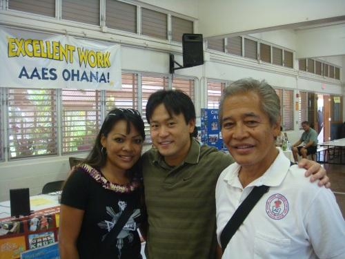 Betty Bartolome, Rep. Jon Riki Karamatsu, & Bethel Chapel's Pastor