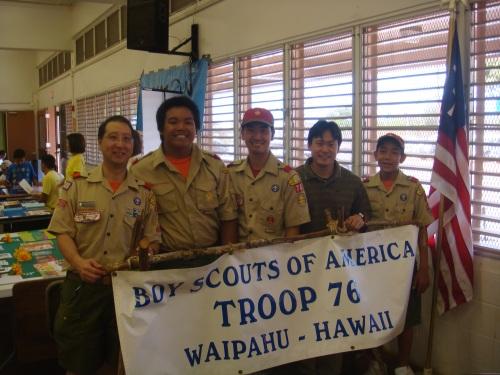 Rep. Jon Riki Karamatsu & Boy Scout Troop 76