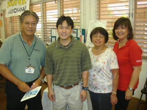 Rep. Jon Riki Karamatsu with residents