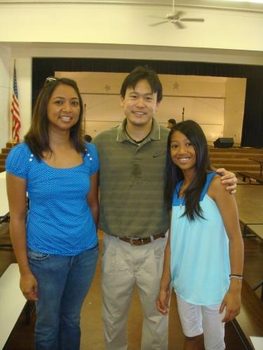 Mrs. Clemente, Rep. Jon Riki Karamatsu, and Kielsea Clemente who sang a couple of songs for entertainment