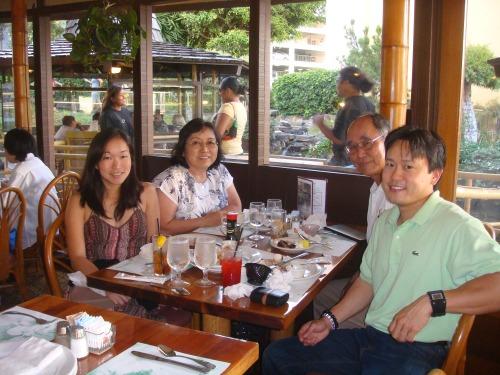 Lara (sister), Laraine (mom), Richard (dad), and Jon