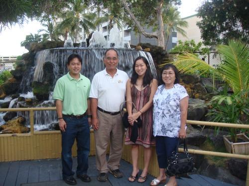Jon, Richard (dad), Lara (sister), and Laraine (mom)