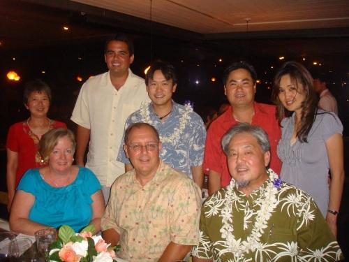 Rep. Jon Riki Karamatsu with host Alan Takemoto and tablemates