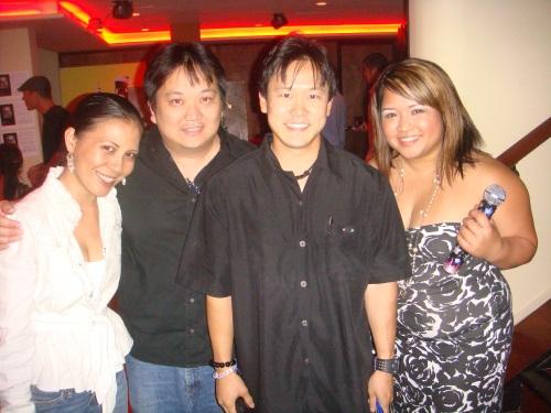 Jon Nishihara and Rep. Jon Riki Karamatsu with new friends