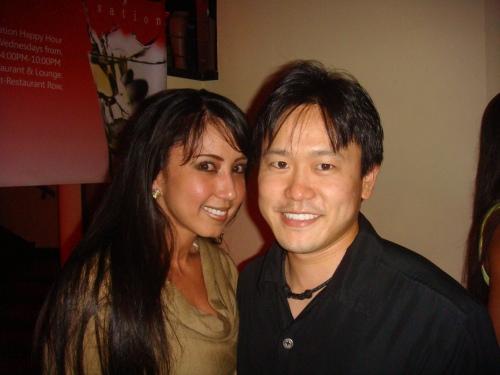 Kim Koga & Rep. Jon Riki Karamatsu.  Kim is a co-owner of Bonsai Restaurant & Lounge at Restaurant Row.