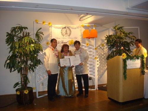 Councilmember Donovan Dela Cruz, Jenny Alconcel Quezon, and Rep. Jon Riki Karamatsu
