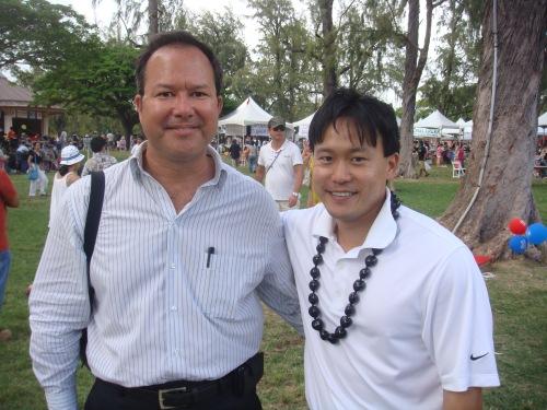 Rep. Tom Brower and Rep. Jon Riki Karamatsu