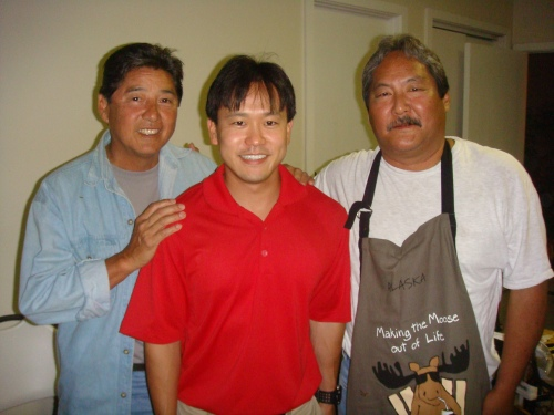 Rep. Jerry L. Chang. Rep. Jon Riki Karamatsu, and Rep. Chang's campaign chair David R. Shiigi