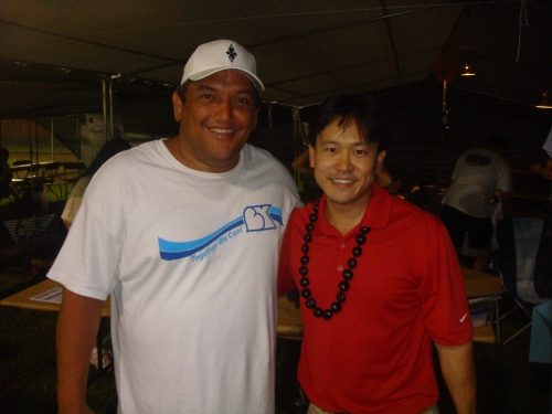 Hawaii County Mayor Billy Kenoi and Rep. Jon Riki Karamatsu