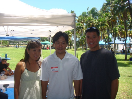 With my friend Shannon Higa and her friend.