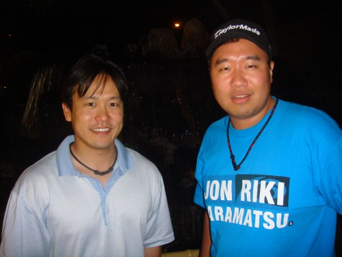 Rep. Jon Riki Karamatsu and Campaign Chair Brandon R. Mitsuda after a long day of campaigning.