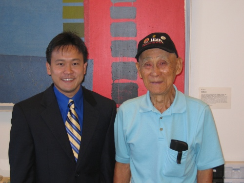 "Rep. Jon Riki Karamatsu and Sen. Nadao ""Najo"" Yoshinaga at Karamatsu's state capitol office in February of 2006."