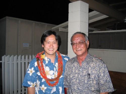 Rep. Jon Riki Karamatsu & Rep. Bob Nakasone at Karamatsu's 2006 fundraiser at St. Andrew's Priory.
