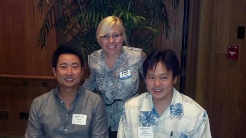 "Dan Chen, Jenna Blakely, and I at Pacific Business News ""Book of Lists"" event at Halekulani Hotel on Thursday, January 24, 2013 at 7:25 p.m."