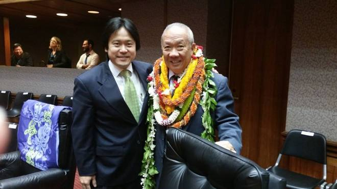 Honolulu Deputy Prosecuting Attorney and House Speaker Calvin K.Y. Say at the 2015 Opening Day of Hawaii State Legislature.