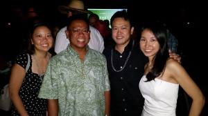 enn Okubo, Allen Yadao, Tricia Nakamatsu, and I at The Hawaii Women's Legal Foundation's 25th Annual Gala Fundraiser