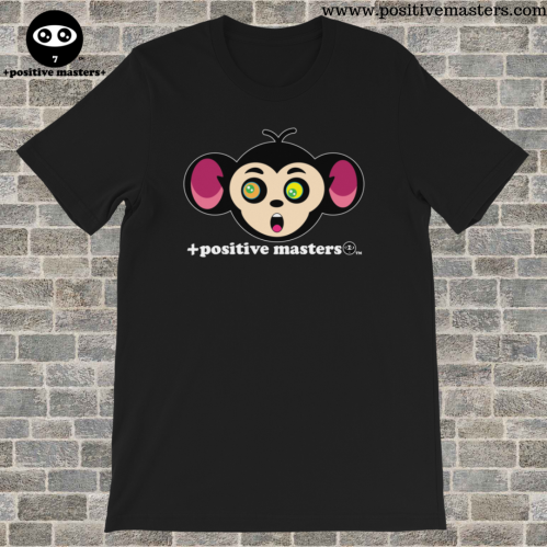 Positive Masters' Monkey Mind Unisex T-Shirt encourages us to overcome our Monkey Mind. Stop worrying on what you can't control. Focus on what you can control.
