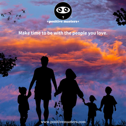 Make time to be with the people you love. Every moment is precious.