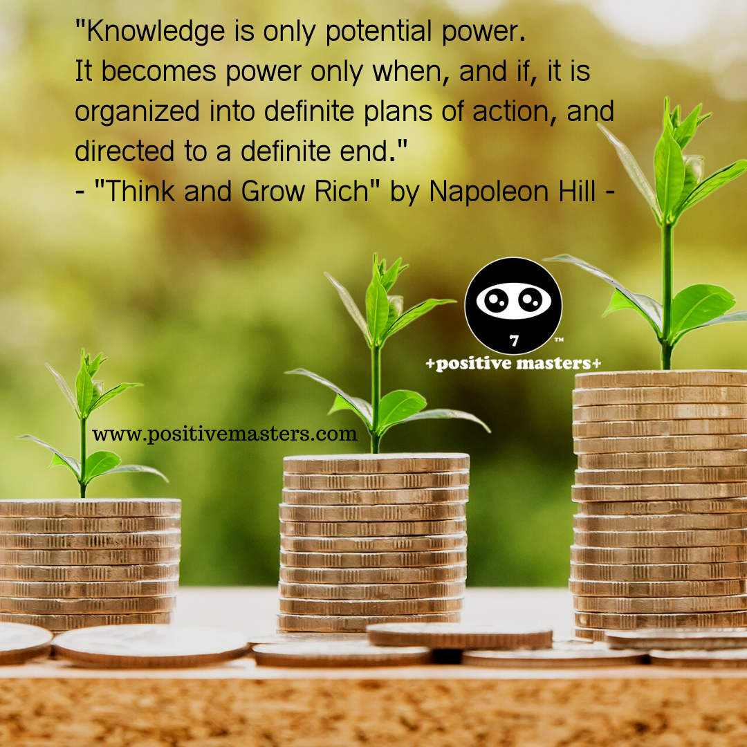"""Knowledge is only potential power. It becomes power only when, and if, it is organized into definite plans of action, and directed to a definite end."""