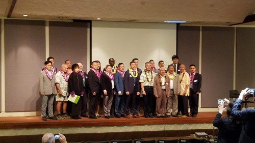 My mentor and friend, Speaker Emeritus Calvin K.Y. Say (front row & 2nd from right) invited me to attend the 6th Annual Bioeconomy & Innovation Forum at the Hawaii State Capitol on February 25, 2020.