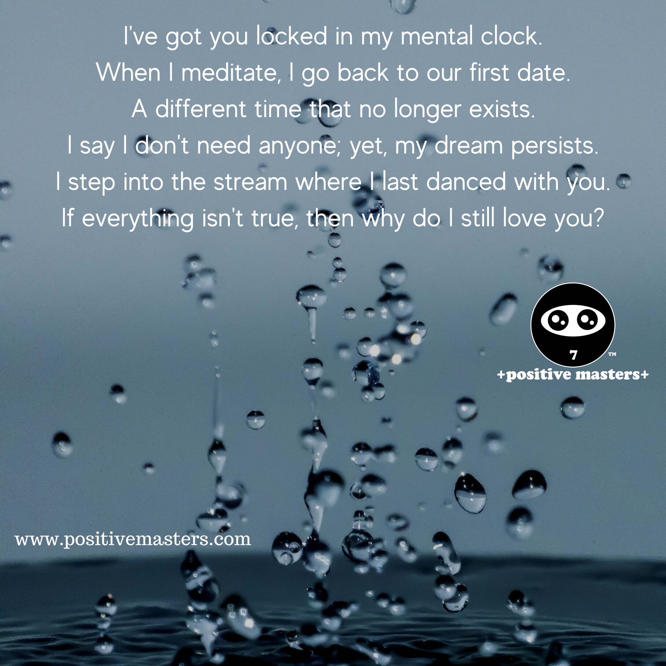 I've got you locked in my mental clock. A romantic poem based on my first novel.